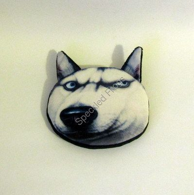 Black and white dog face purse.