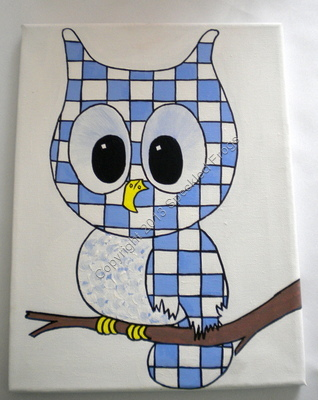 Little Toots the Owl in Blue