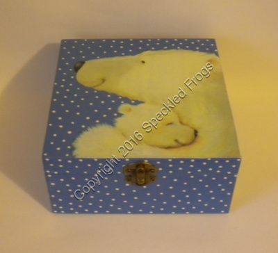 Polar Bear and Cub trinket box