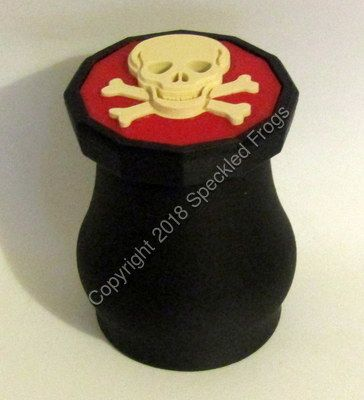 Skull and Crossbones Tooth fairy Pot