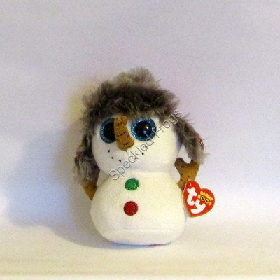 TY Beanie Boos. Buttons the  Snowman